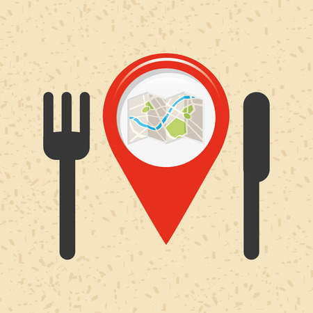 searching: location of place on the map design, vector illustration eps10 graphic