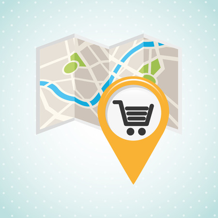 retail place: location of place on the map design, vector illustration eps10 graphic