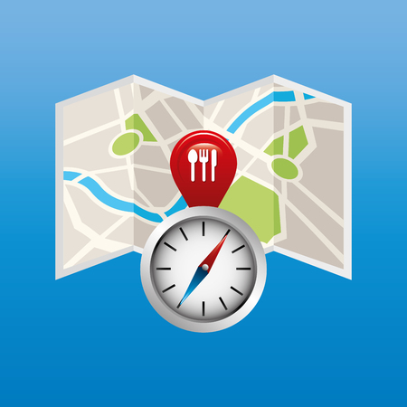 gps device: location of place on the map design, vector illustration eps10 graphic