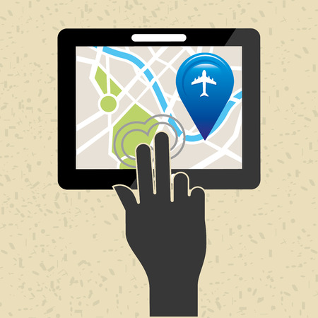positioning: global positioning system design, vector illustration eps10 graphic Stock Photo