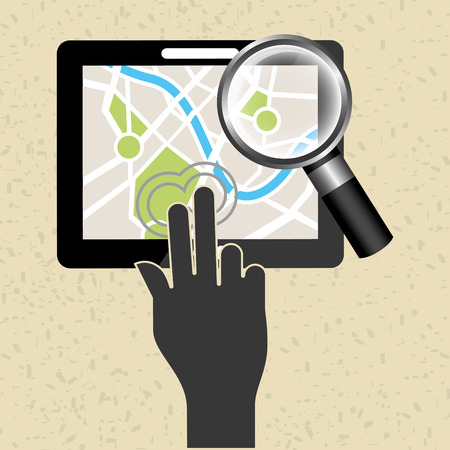 global positioning system: global positioning system design, vector illustration eps10 graphic Stock Photo