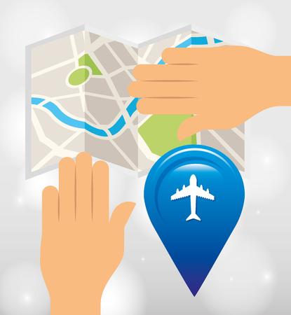 positioning: global positioning system design, vector illustration eps10 graphic Illustration