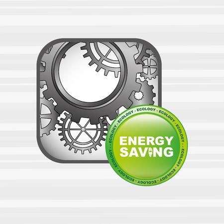 diseño de ahorro energético, ejemplo gráfico del vector eps10