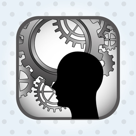 computing machine: social profile design, vector illustration eps10 graphic