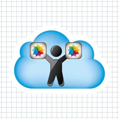 media network: cloud computing design, vector illustration eps10 graphic