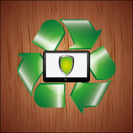 application recycle: energy saving  design, vector illustration eps10 graphic