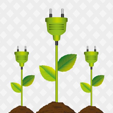 energy saving design, vector illustration eps10 graphic Ilustração Vetorial