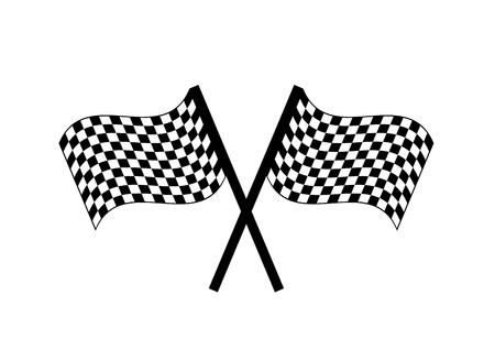 two crossed checkered flags: flag finish design, vector illustration eps10 graphic