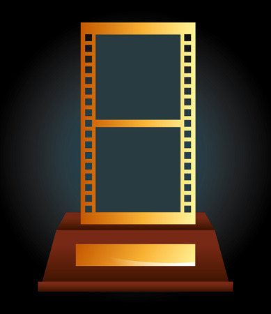 gold record: film award  design, vector illustration eps10 graphic
