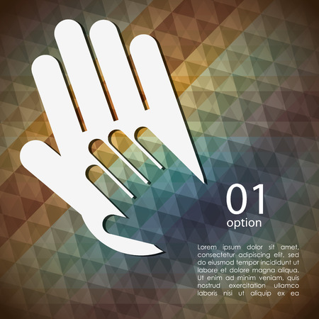 collaborate: collaborative hands design, vector illustration eps10 graphic