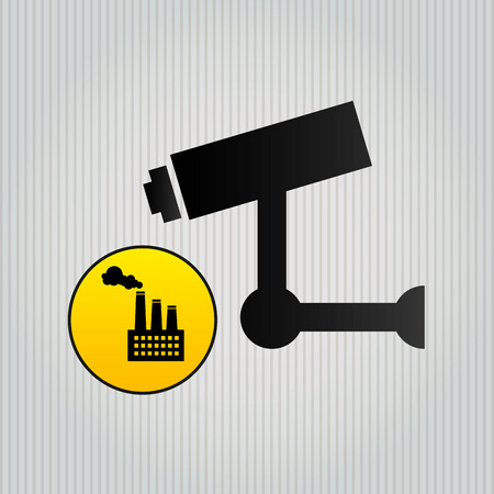 protected plant: security system design, vector illustration eps10 graphic Illustration