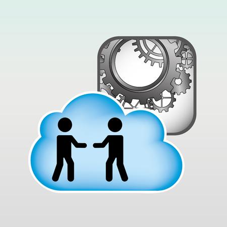 computing machine: cloud computing design, vector illustration eps10 graphic