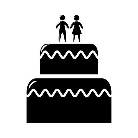 wedding cake isolated: wedding cake isolated icon design, vector illustration eps10 graphic