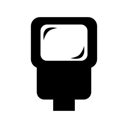 ligh: flash ligh isolated icon design, vector illustration eps10 graphic Illustration