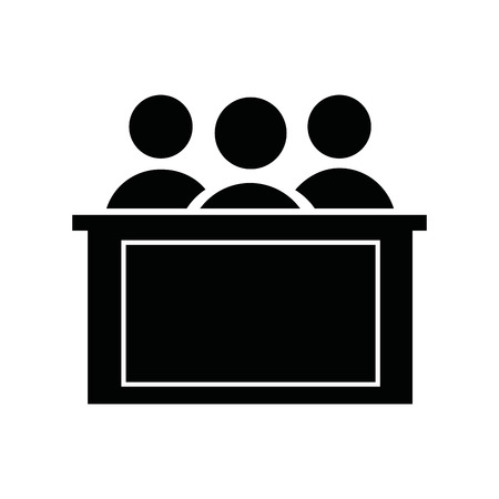 honorable: honorable jury isolated icon design, vector illustration eps10 graphic