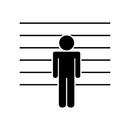 signing: prisoner in signing isolated icon design, vector illustration eps10 graphic