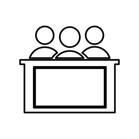 jurado: honorable jurado aislado icono del dise�o, ejemplo gr�fico del vector eps10 Vectores