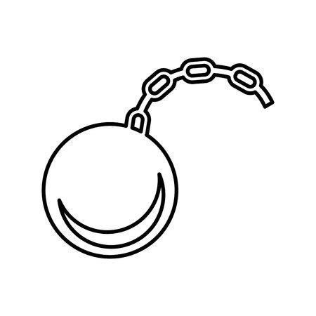 esclavo: grillete aislado esclavo diseño de iconos, ejemplo gráfico del vector eps10