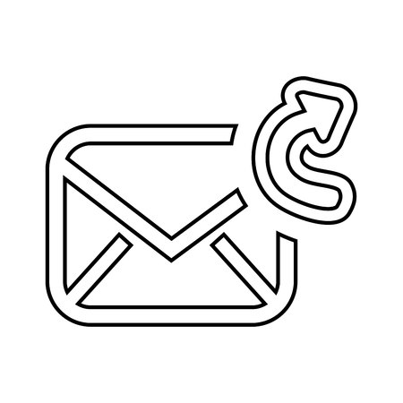 re: forward email setup isolated icon design, vector illustration eps10 graphic Illustration