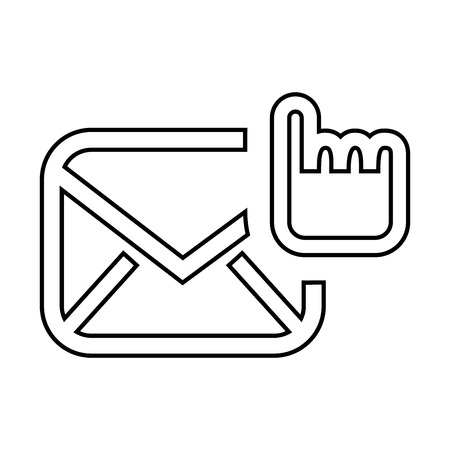 selection: selection email setup isolated icon design, vector illustration eps10 graphic