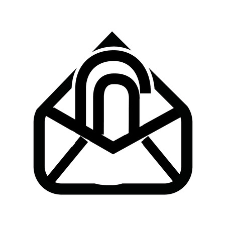 attach: attach file email setup isolated icon design, vector illustration eps10 graphic Illustration