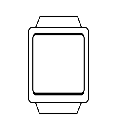 watch over: square watch over isolated background, vector illustration