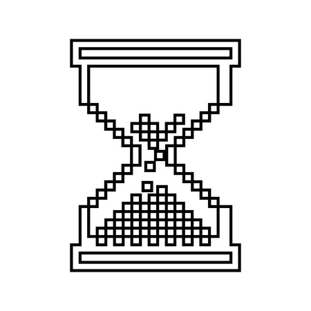 pixelated: hourglass pixelated isolated icon design, vector illustration  graphic Illustration