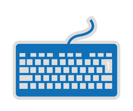 computer isolated: computer keyboard isolated icon design, vector illustration  graphic Illustration