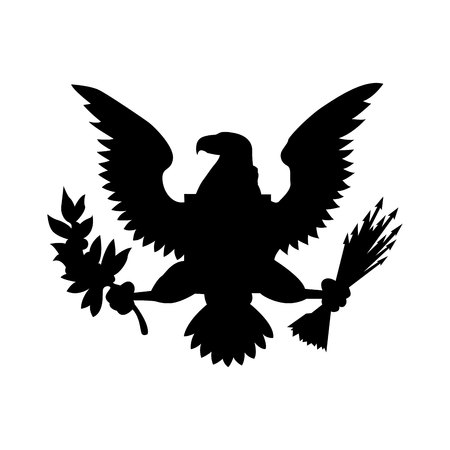 American eagle emblem isolated icon design, vector illustration  graphic