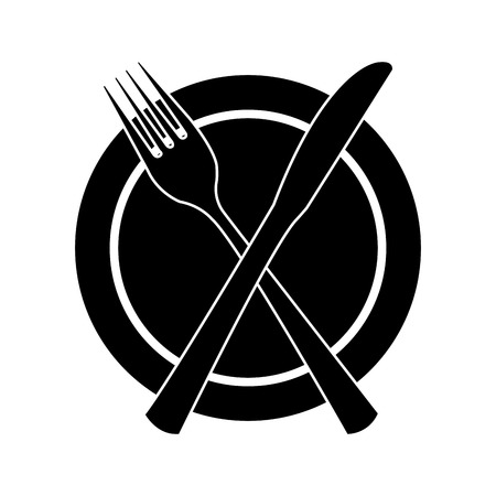 flatwares: table cutlery isolated icon design, vector illustration  graphic
