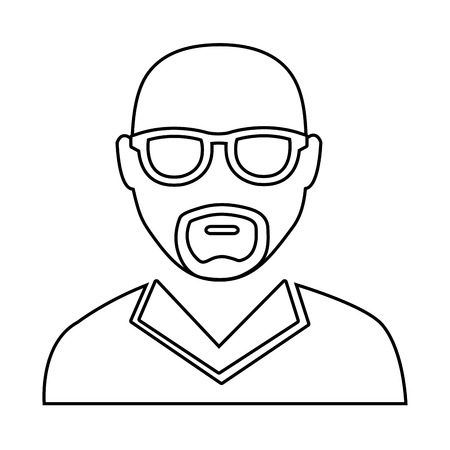 eyeglass: avatar man wearing eyeglass over isolated background,vector illustration
