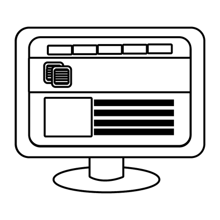 electronic device: electronic device screen with commerce icon and squares over isolated background,vector illustration