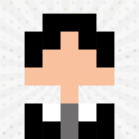 celebrities: avatar person pixel design, vector illustration eps10 graphic