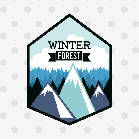 winter forest: winter forest design, vector illustration eps10 graphic Illustration