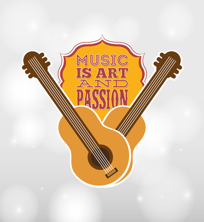 passion play: musical instrument design, vector illustration eps10 graphic Illustration