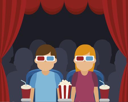 courtain: cinema entertainment design, vector illustration eps10 graphic Illustration
