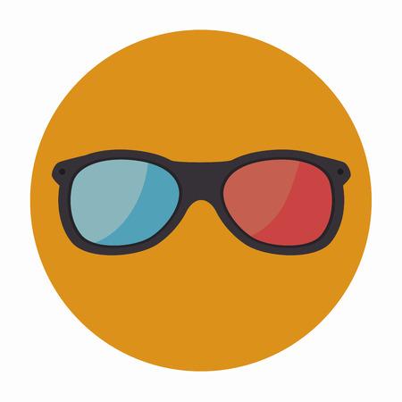 3-D glasses design, vector illustration eps10 graphic