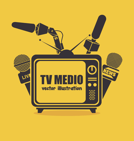video icons: tv medio design, vector illustration eps10 graphic