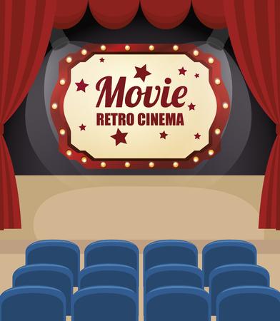 cinema entertainment design, vector illustration eps10 graphic Illustration
