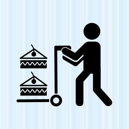 promoter: delivery food design, vector illustration eps10 graphic