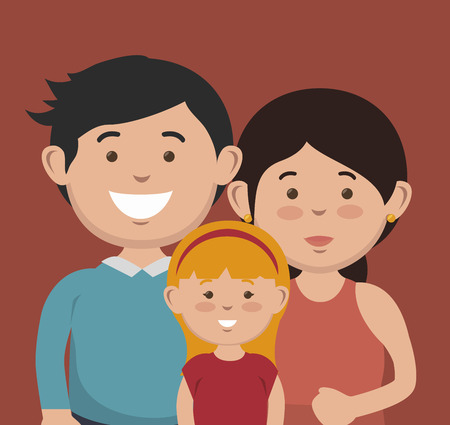 mom and daughter: happy family design, vector illustration eps10 graphic