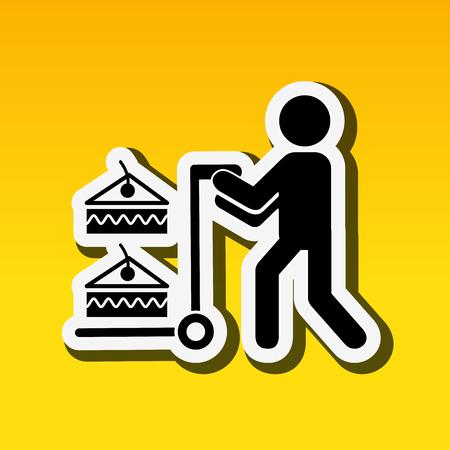 delivering: delivery food design, vector illustration eps10 graphic