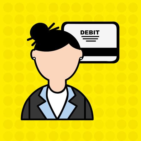 debit: debit card user design, vector illustration eps10 graphic Illustration