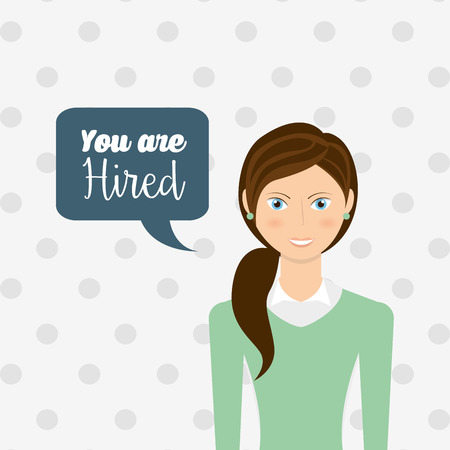 hired: you are hired design, vector illustration eps10 graphic