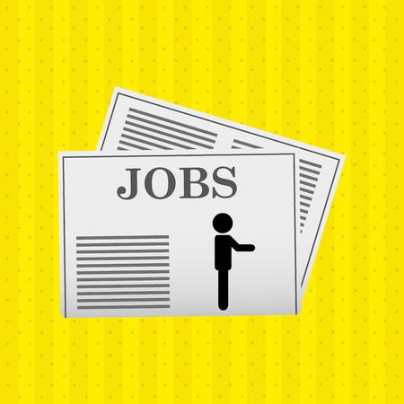 folded newspaper: jobs concept design, vector illustration eps10 graphic