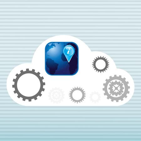 global settings: cloud computing design, vector illustration eps10 graphic
