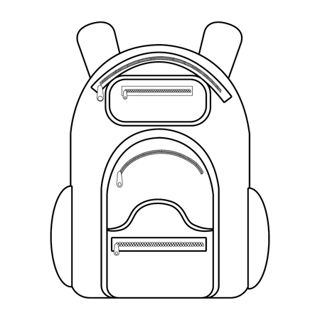 encampment: camping backpack over isolated background, vector illustration