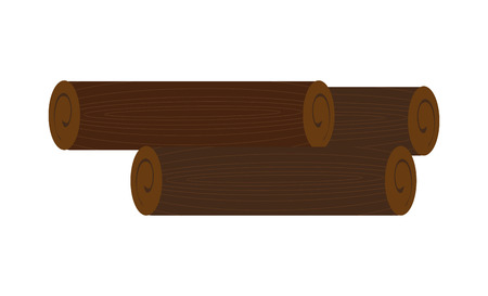 luminary: brown wooden logs over isolated background,nature concept, vector illustration