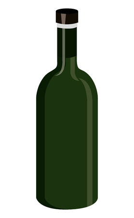 gree: gree  wine bottle front view over isolated background,vector illustration