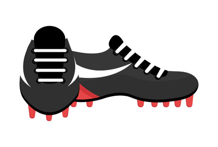 soccer shoes: black and white soccer shoes over isolated background,vector graphic